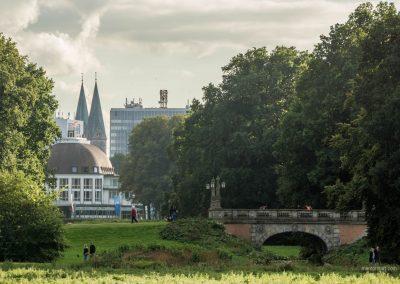 Blick auf die Innenstadt in Bremen vom Bürgerpark aus