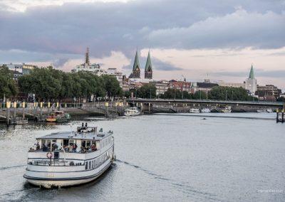 Die Schlachte in Bremen am Abend